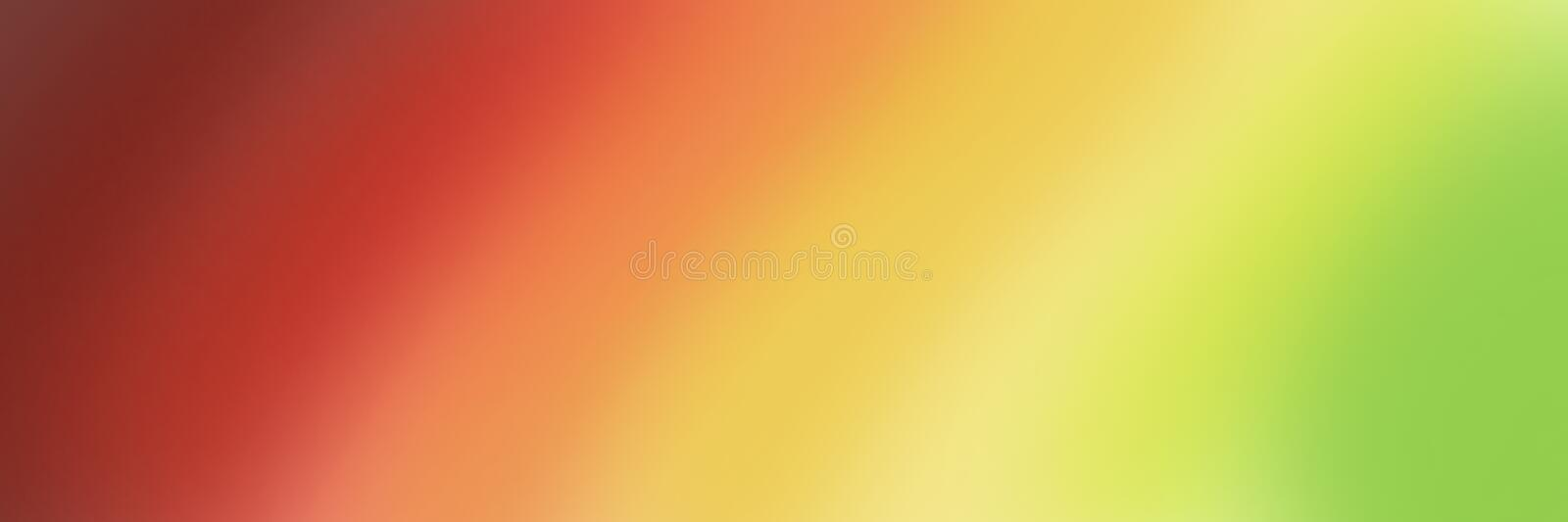 Large abstract banner in gradient shades of red yellow and green royalty free stock images