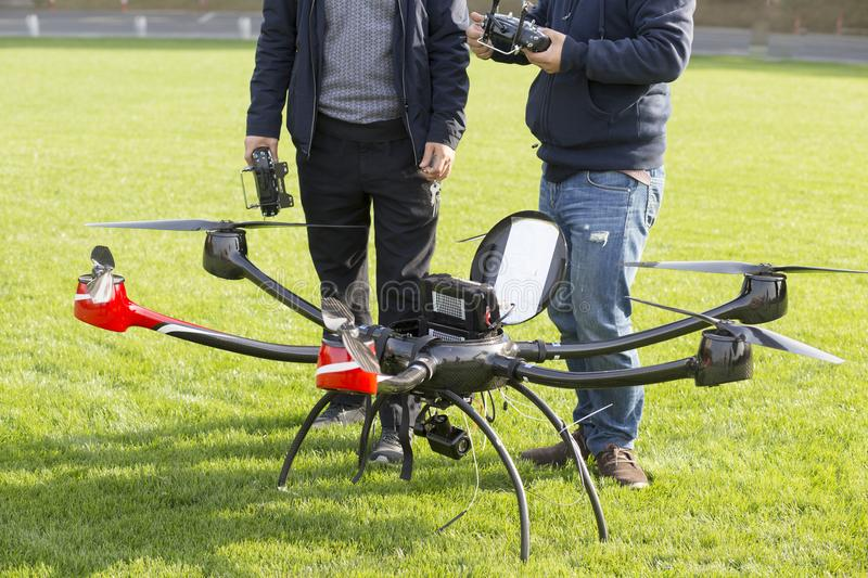Large aerial unmanned aerial vehicle royalty free stock photography