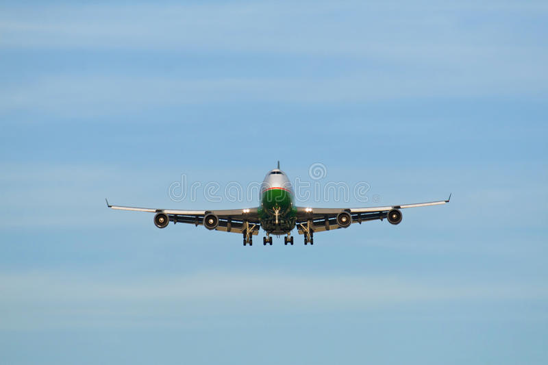 Large airplane royalty free stock photos