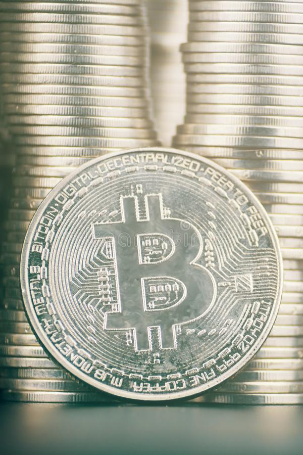 Large amount of bitcoin. Fall of cryptocurrency. Large amount of bitcoin. Is it worth investing in crypto royalty free stock images