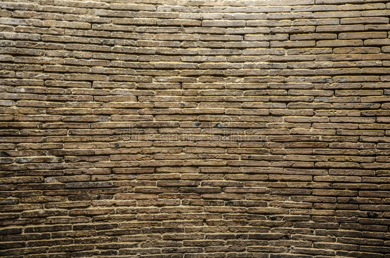 Large ancient brick wall stock photography