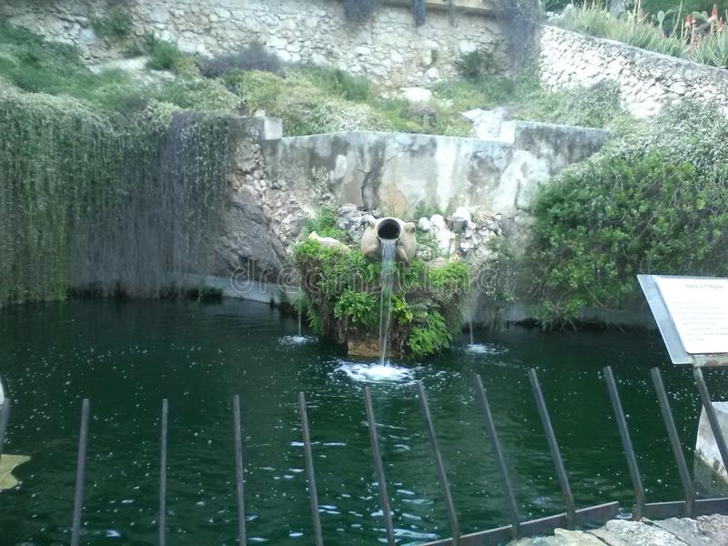 Fountain park stock photography