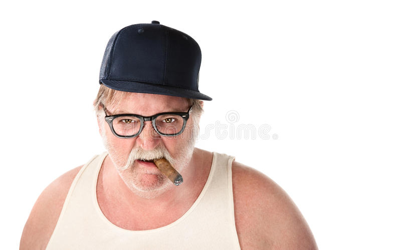 Large Angry Man Royalty Free Stock Photos