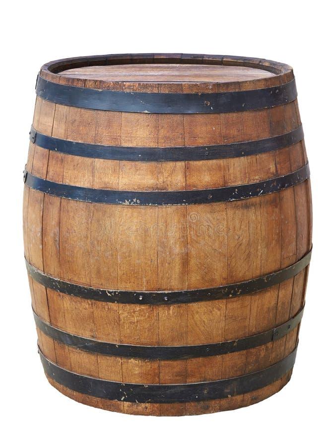 Large antique barrel royalty free stock image
