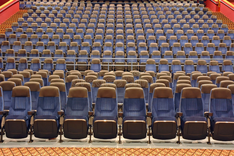 Download Large Auditorium stock image. Image of perform, watch, stage - 375981