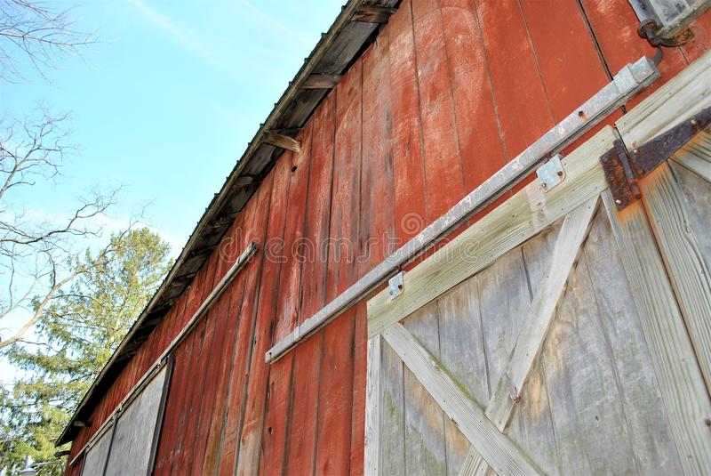 Large barn doors royalty free stock photography