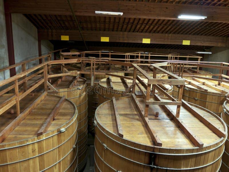 Download Large Barrels In Wine Cellar Stock Photo - Image: 30263984
