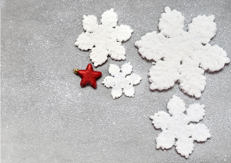 Large beautiful snowflake on a black background. royalty free stock image