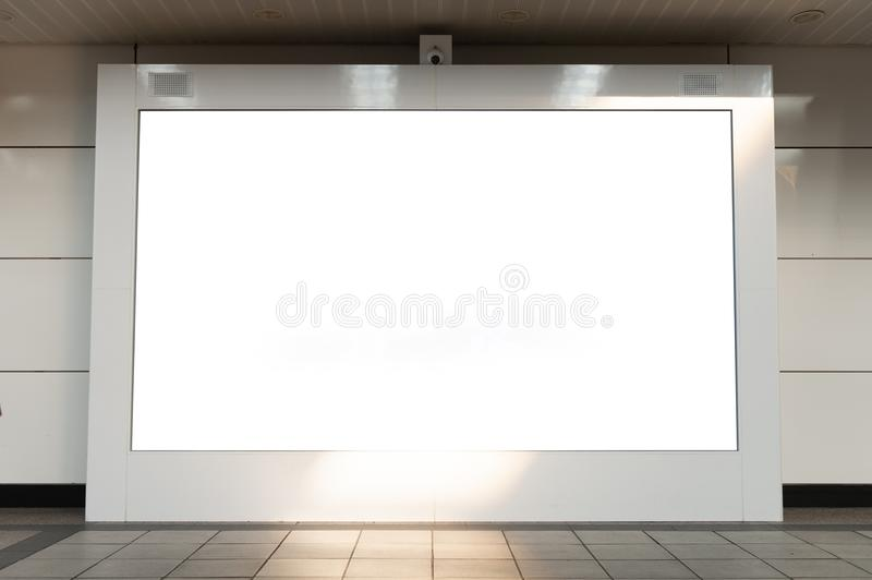 large billboard. black advertising led board empty space for tex royalty free stock images