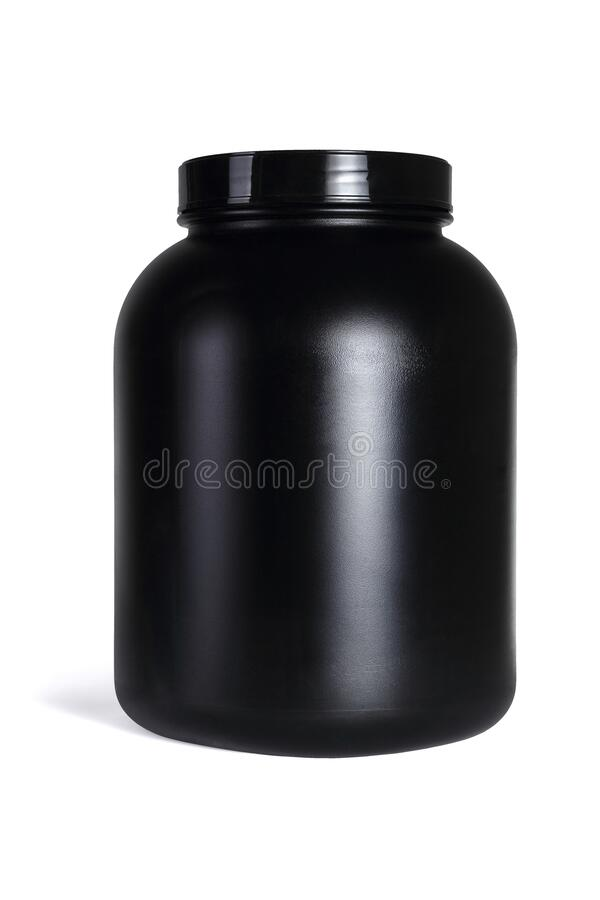 Large Black Plastic Container royalty free stock images