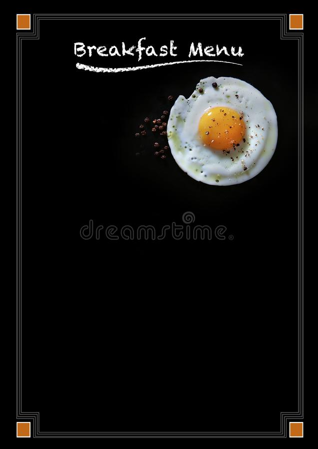 Breakfast Menu Blackboard Poster royalty free stock photography