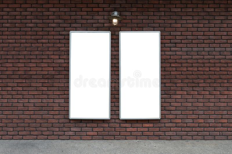 Large blank billboard on a street wall, banners with room to add royalty free stock images