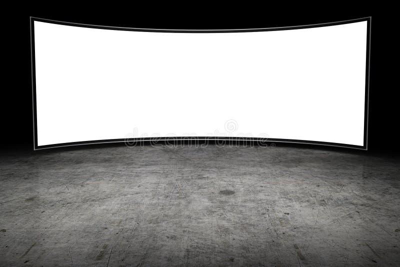 Large blank TV royalty free stock image