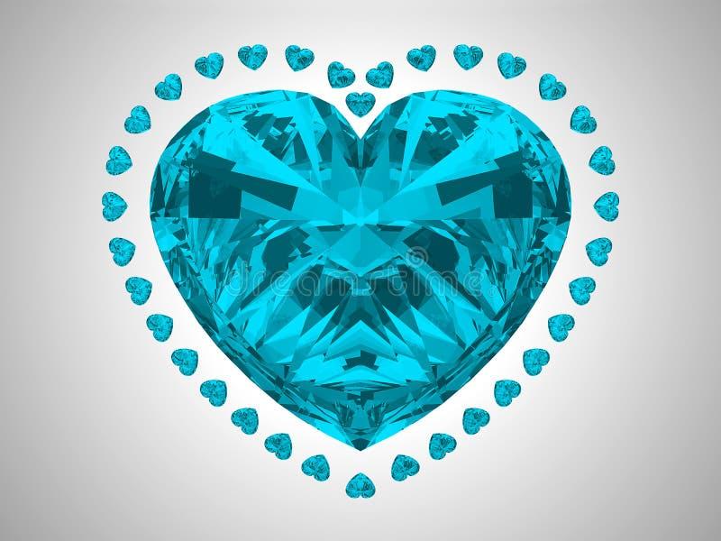 Large blue heart cut diamond