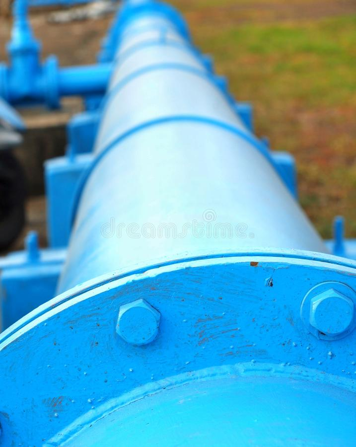 Large Blue Pipeline Royalty Free Stock Images