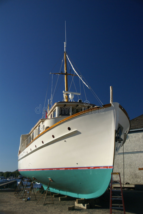 Download Large boat in dry dock stock image. Image of boat, coast - 3222853
