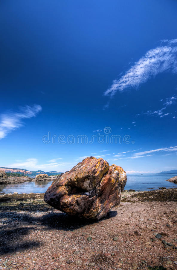 Download Large Boulder On Pacific Coast Stock Photo - Image: 20333214