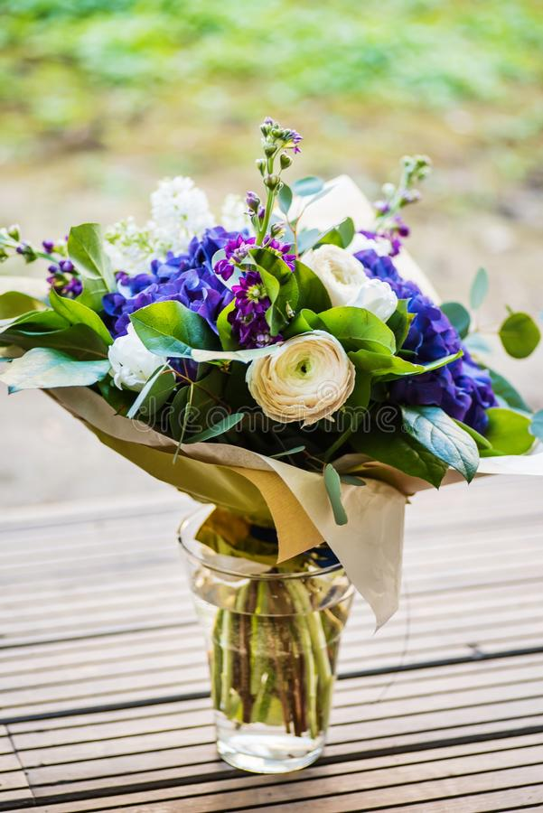 A large bouquet of white and blue spring flowers stock photo image download a large bouquet of white and blue spring flowers stock photo image of delicate mightylinksfo