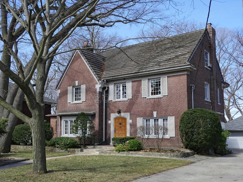 Large brick detached house royalty free stock photo