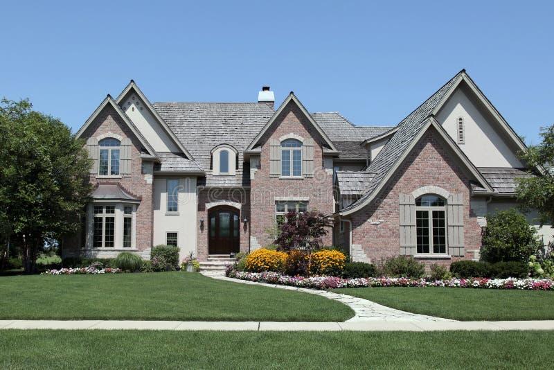 Large brick home royalty free stock photo