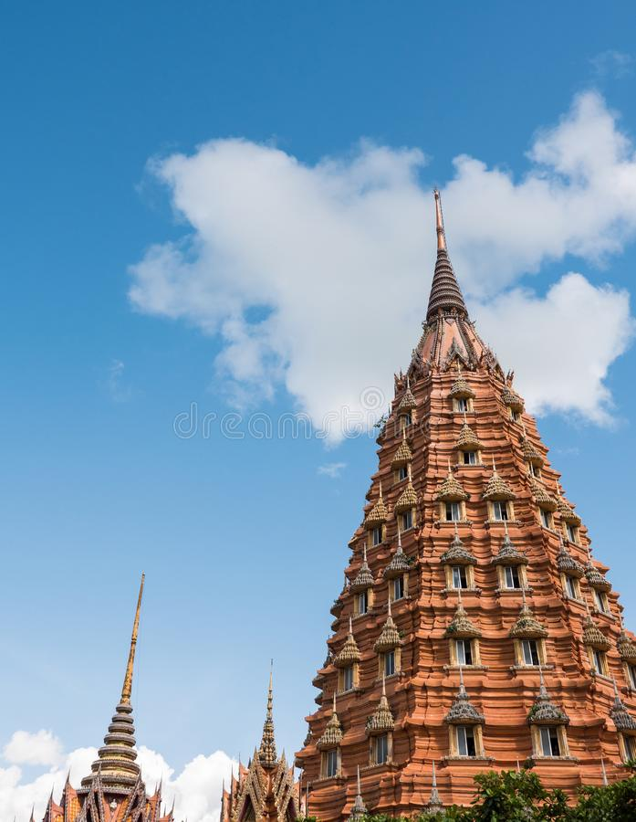 Large brick pagoda with the copyspace. stock photography