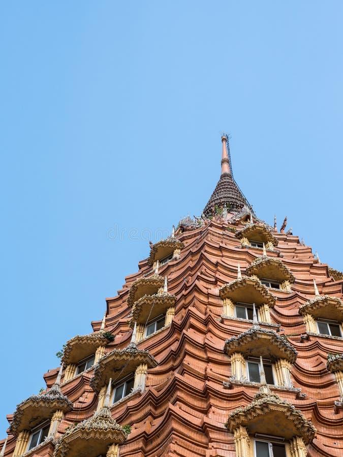 Large brick pagoda with the many window. royalty free stock photography