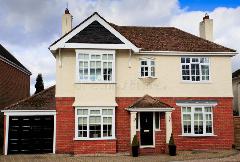 Large brick and rendered detached house royalty free stock photography