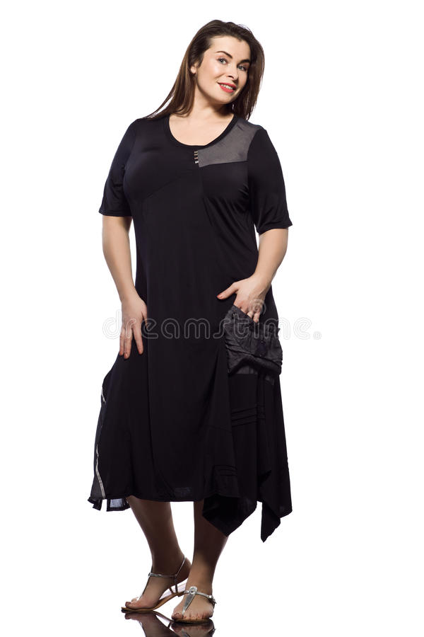 Download Large Build Caucasian Woman Spring Summer Fashion Stock Image - Image: 21034919