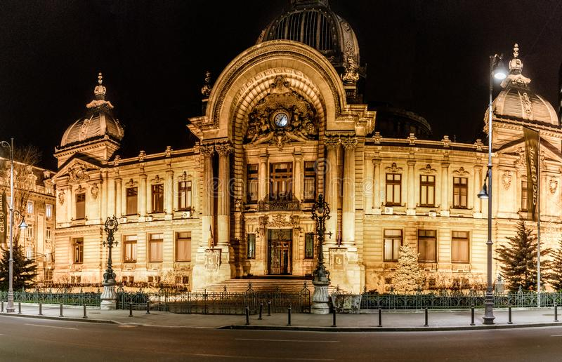 Large Building in Bucharest, Romania royalty free stock image