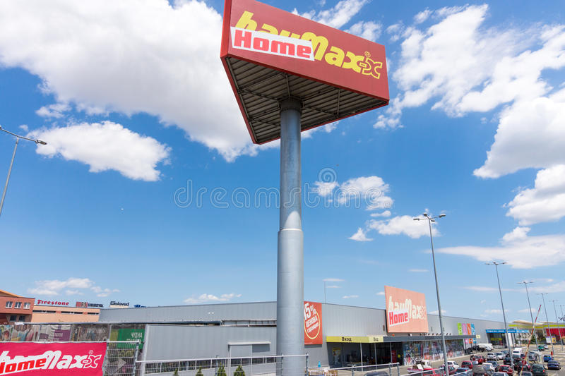Large building supermarket in Bulgarian Burgas stock photography