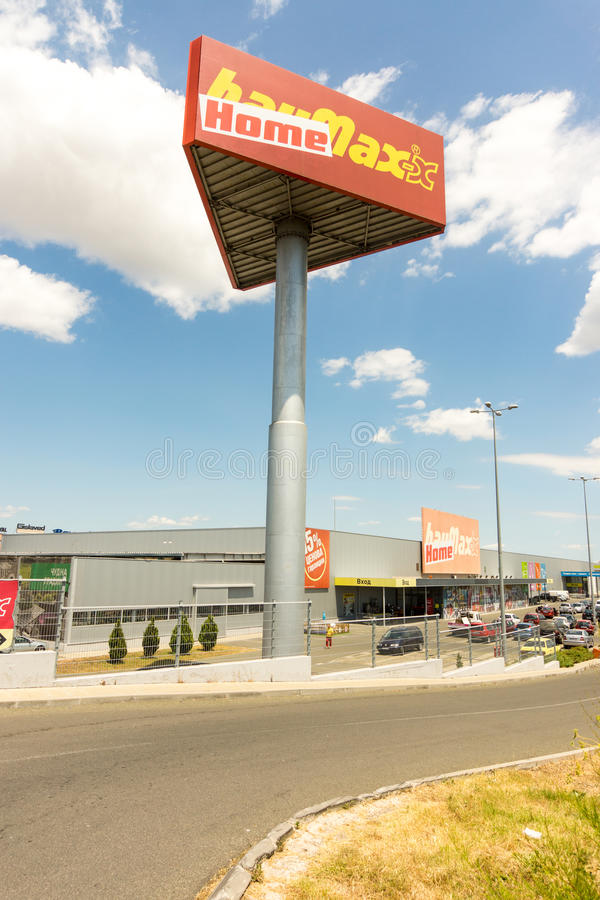 Large building supermarket in Burgas, Bulgaria royalty free stock images