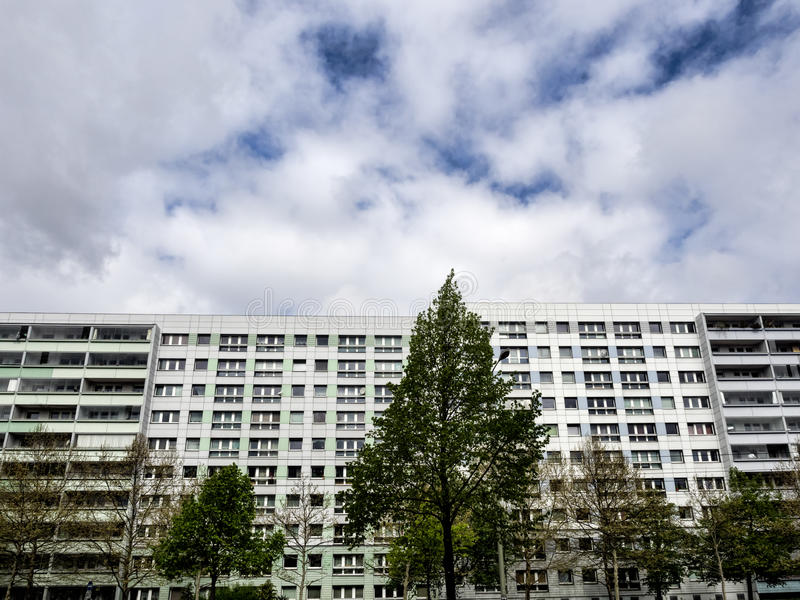 Large buildings with flats in Berlin, Germany stock image