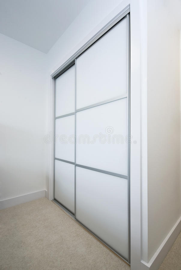 Download Large built in wardrobe stock photo. Image of wood, wooden - 13676662