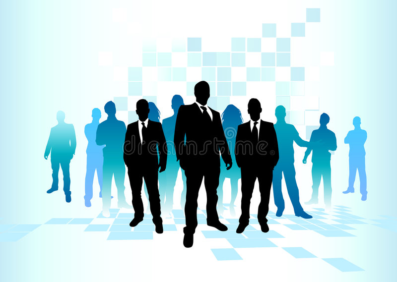 Large Business Team royalty free illustration