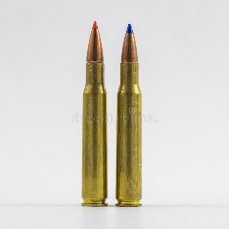 Large caliber bullet types stock photos