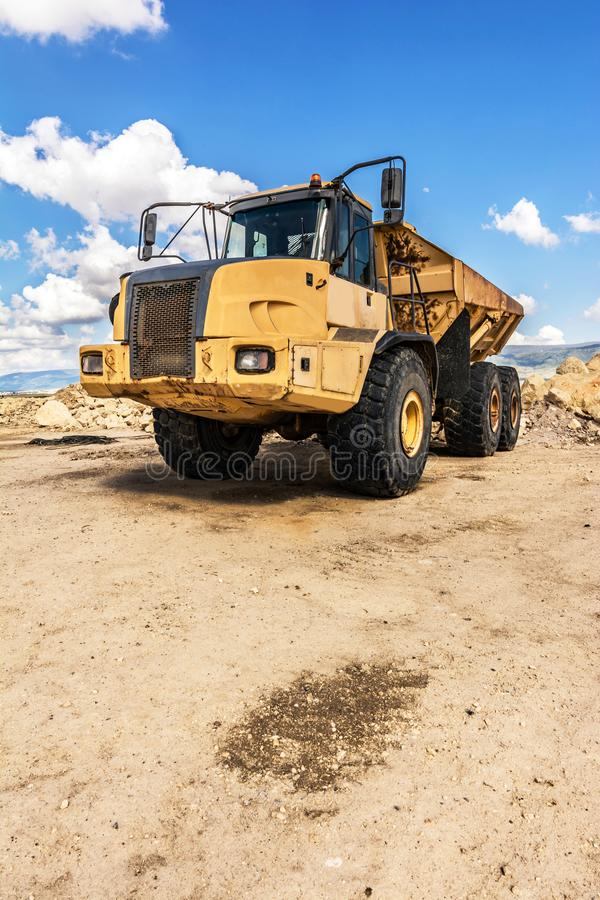 Large capacity truck for quarries and mines.  royalty free stock images