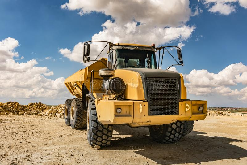 Large capacity truck for quarries and mines.  stock photo