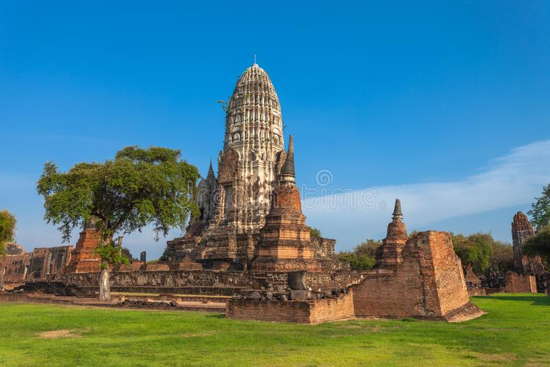 The large chedi in Phra Si Sanphet Temple. Wat Phra Si Sanphet the temple of the Buddha Si Sanphet was the most important temple in the Ayutthaya Kingdom. Wat stock photo