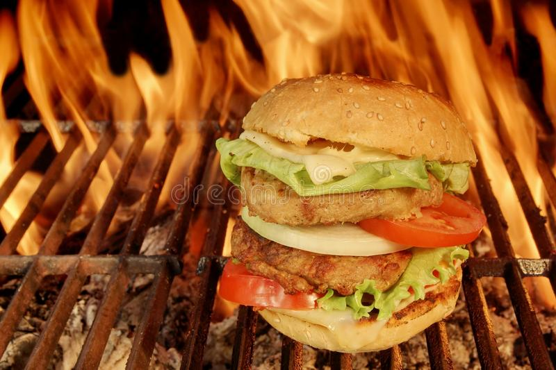 Large Cheeseburger royalty free stock image
