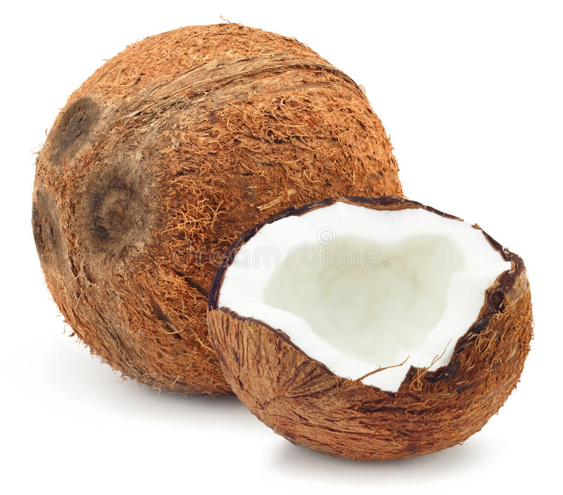 Large coconut royalty free stock image