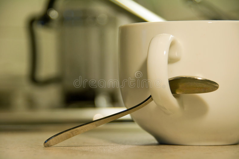 Large coffee cup royalty free stock image