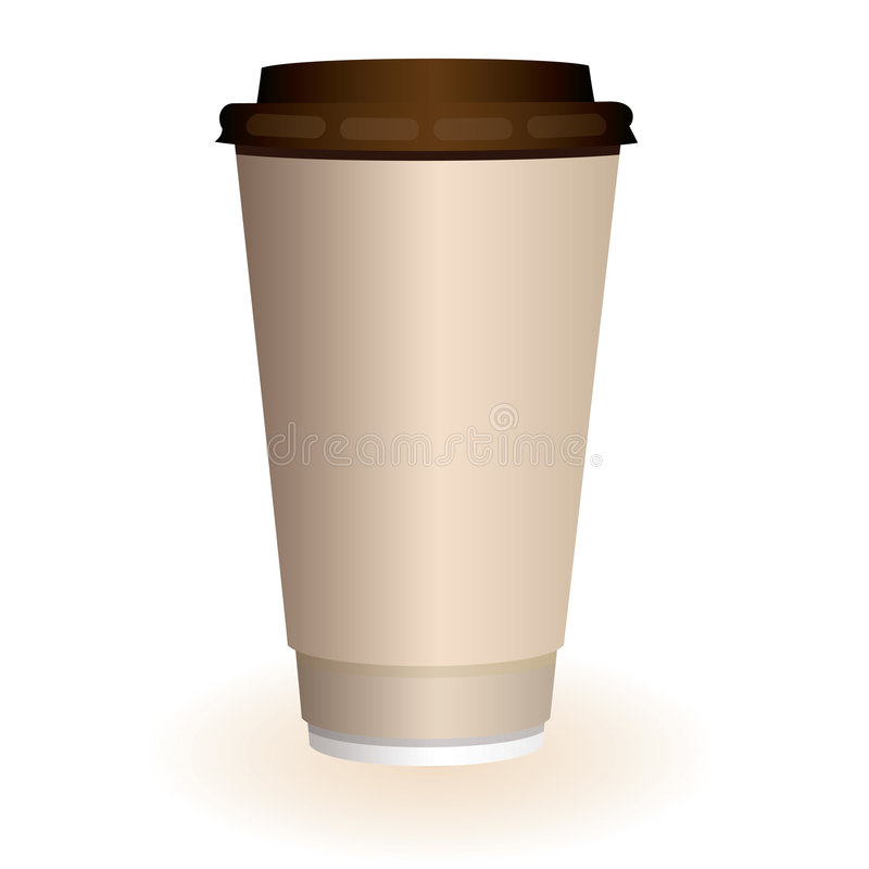 Large coffee cup vector illustration