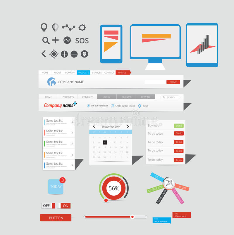 Large collection of web graphics stock photos
