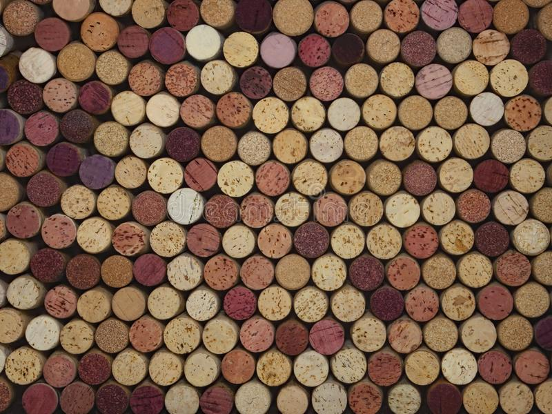 Large Colorful Collection of Natural Wine Corks royalty free stock photos