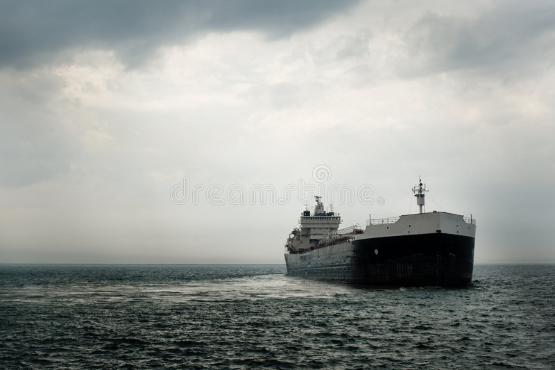 Large Commercial Ship royalty free stock photo