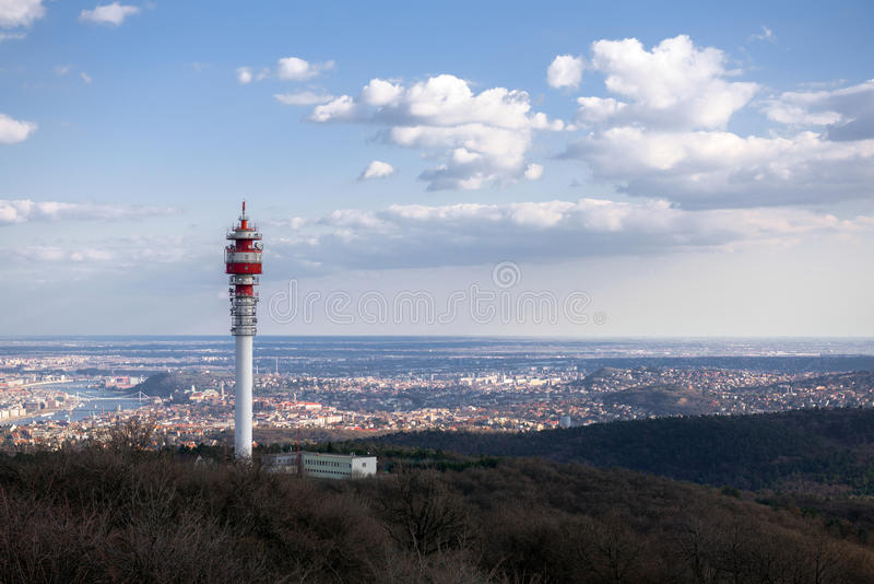 Download Large Communication Tower Against Sky Stock Image - Image: 34966685