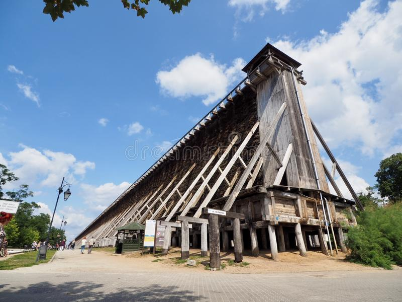 Graduation Tower in Ciechocinek. A large complex of graduation towers is located in Ciechocinek, Poland.[2] This entirely wooden construction was erected in the royalty free stock photos