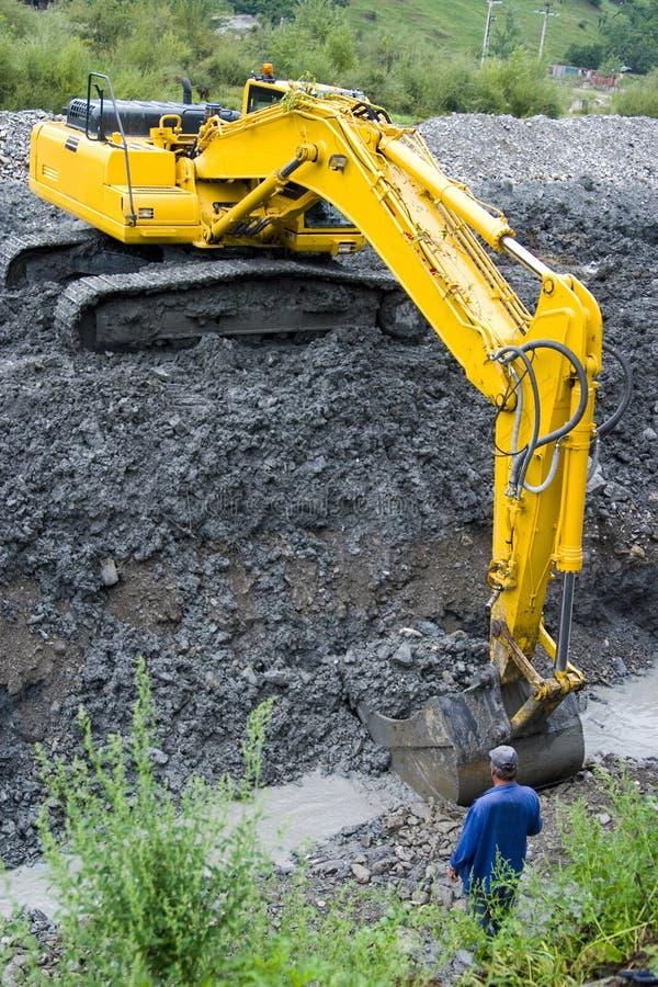 Large construction shovel stock image