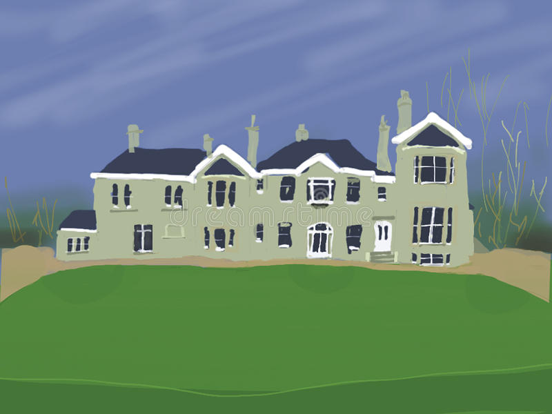 Large country house stock illustration