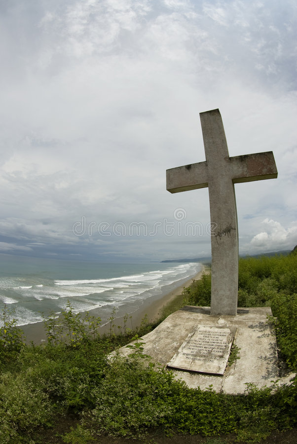 Download Large Cross White Star Of The Sea Church Ecuador Stock Images - Image: 4637304